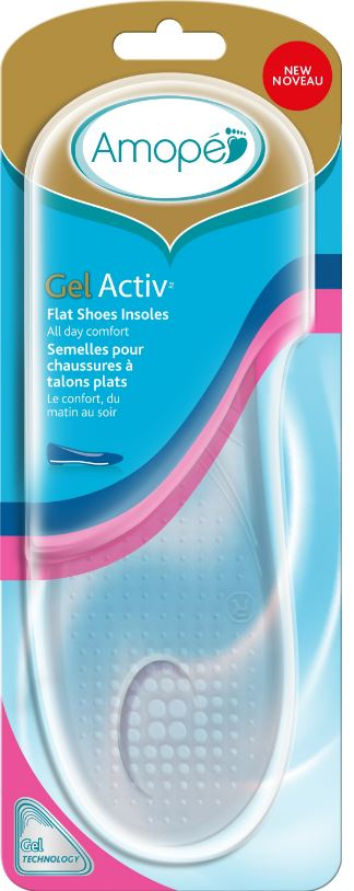 AMOPE® GelActiv™ Flat Shoes Insoles