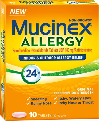 MUCINEX® ALLERGY Indoor & Outdoor Allergy Relief (Discontinued)