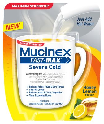 MUCINEX® FAST-MAX™ Severe Cold Packets
