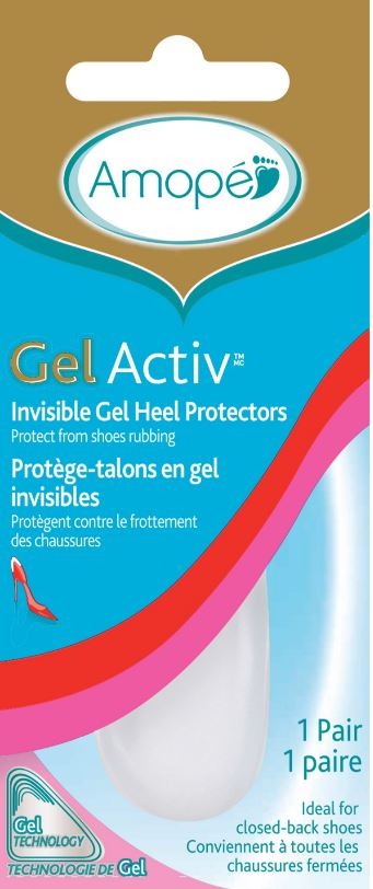 AMOPE GelActiv Invisible Gel Heel Protectors Canada Photo