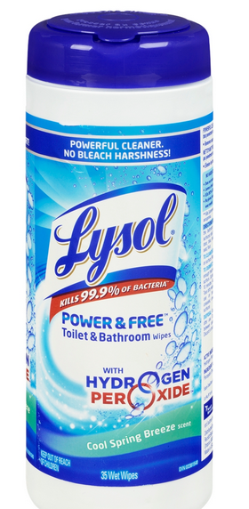 LYSOL POWER  FREE Toilet  Bathroom Wipes  Cool Spring Breeze Canada Photo