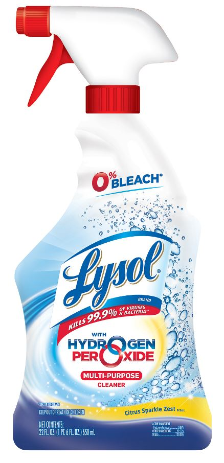 LYSOL® Hydrogen Peroxide Multi-Purpose Cleaner - Citrus Sparkle Zest