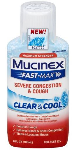 MUCINEX® FAST-MAX® Clear & Cool - Severe Congestion & Cough Liquid