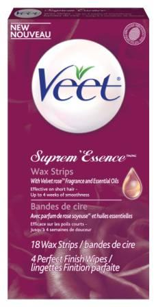 VEET® SUPREM'ESSENCE Wax Strips (Product A)