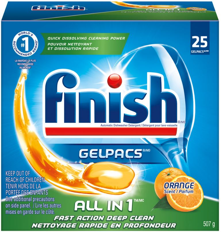 FINISH® GelPacs® All In 1 - Orange Scent (Canada)