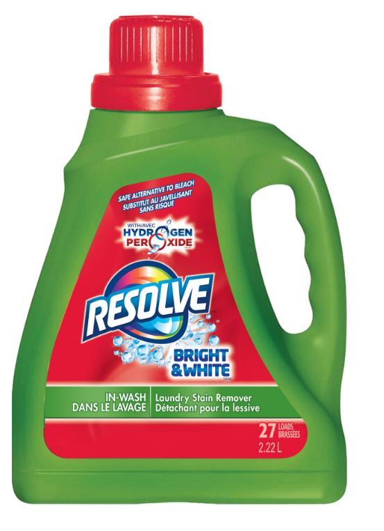 RESOLVE® Bright & White™ With Hydrogen Peroxide™ In-Wash Laundry Stain Remover (Canada)