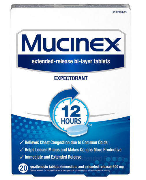MUCINEX 12 Hours SE  600 mg Guaifenesin Canada Photo