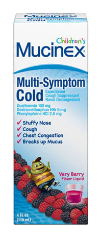 MUCINEX® CHILDREN'S Multi Symptom Liquid - Cold - Very Berry