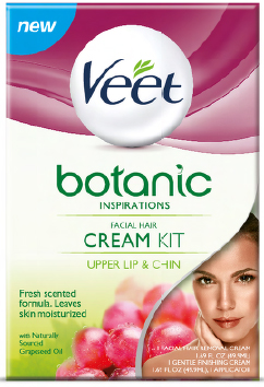 VEET® BOTANIC INSPIRATIONS™ Facial Hair Cream Kit - Facial Hair Removal Cream (Product A)