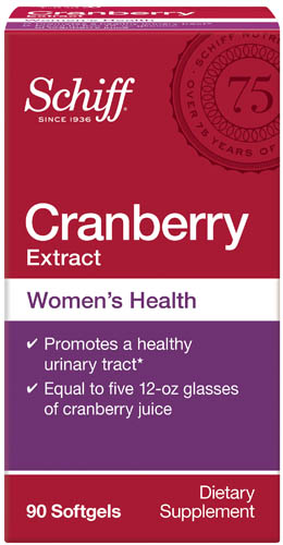 SCHIFF® Cranberry Extract Women's Health Softgels