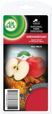 AIR WICK Wax Melts  Shenandoah Apple Harvest and Cinnamon Spice  Photo