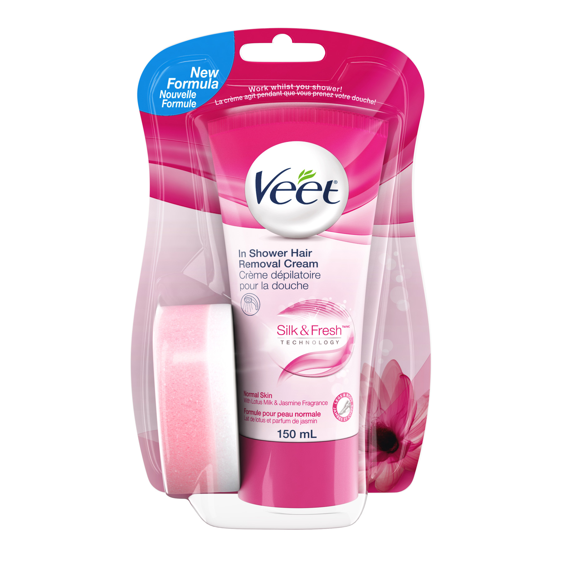 VEET® In-Shower Hair Removal Cream - Lotus Milk & Jasmine (Tube)