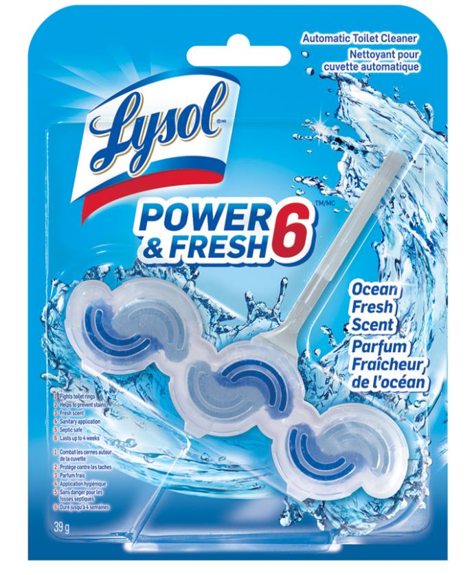 LYSOL Power  Fresh 6 Automatic Toilet Cleaner  Ocean Fresh Scent Canada Photo