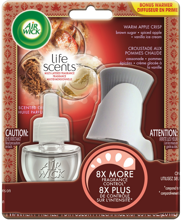 AIR WICK® Scented Oil Starter Kit - Warm Apple Crisp (Life Scents™)