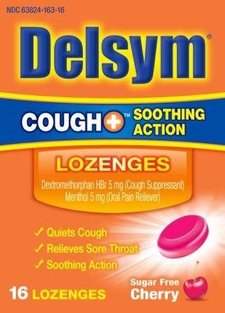 DELSYM® COUGH+™ Soothing Action Lozenges - Sugar Free Cherry