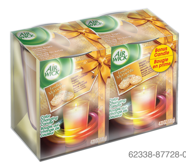 AIR WICK Color Changing Candle  Vanilla Sugar Cookies Canada Photo