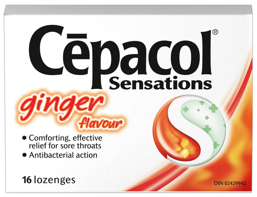CEPACOL Sensations Warming Lozenges  Ginger Canada Photo