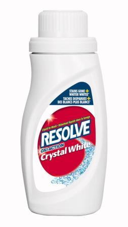 RESOLVE® OXI-ACTION™ Crystal White In-Wash Laundry Stain Remover - Liquid (Discontinued)