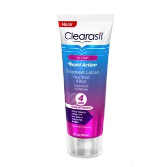 CLEARASIL® Ultra® Rapid Action Treatment Lotion for Face, Chest, & Back