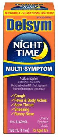 DELSYM® ADULT NIGHT TIME COUGH & COLD LIQUID - Cherry