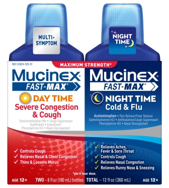MUCINEX® FAST-MAX™ Day Time Severe Congestion & Cough PLUS Night Time Cold & Flu Liquid (Day Time)