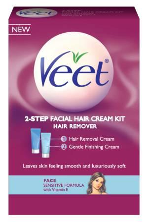 VEET® Facial Hair Cream Kit - Hair Removal Cream (Product A)