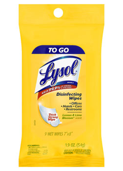 LYSOL® Disinfecting Wipes - To Go - Lemon & Lime Blossom