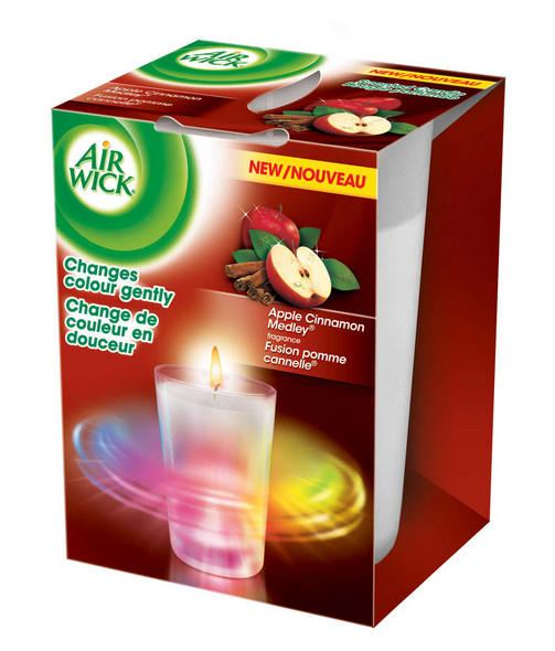 AIR WICK Color Changing Candle  Apple Cinnamon Medley Canada Photo