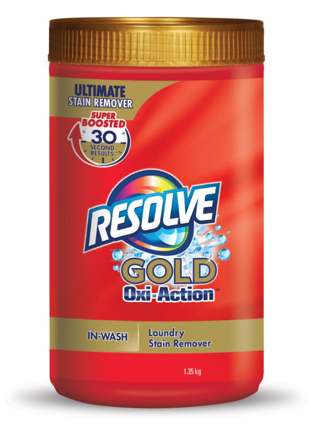 RESOLVE Gold OxiAction InWash Laundry Stain Remover  Powder Canada Photo