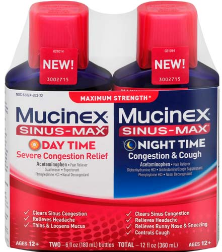 MUCINEX® SINUS-MAX® Day Night - Severe Congestion Relief (Day)