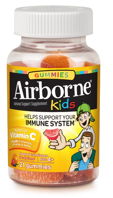 AIRBORNE Kids Gummies  Assorted Fruit Flavors Photo