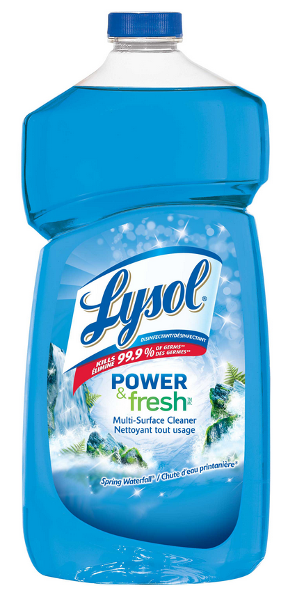 LYSOL Power  Fresh MultiSurface Cleaner  Spring Waterfall Canada Photo