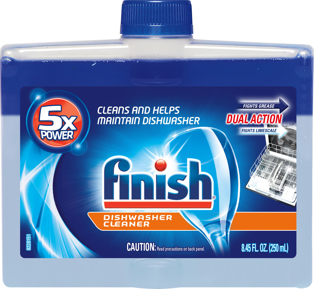 FINISH® Dishwasher Cleaner - Dual Action
