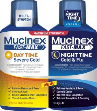 MUCINEX® FAST-MAX™ Day Time Severe Cold PLUS Night Time Cold & Flu Liquid (Night Time)