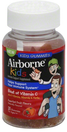 AIRBORNE® Kid's Gummies - Assorted Fruit Flavors