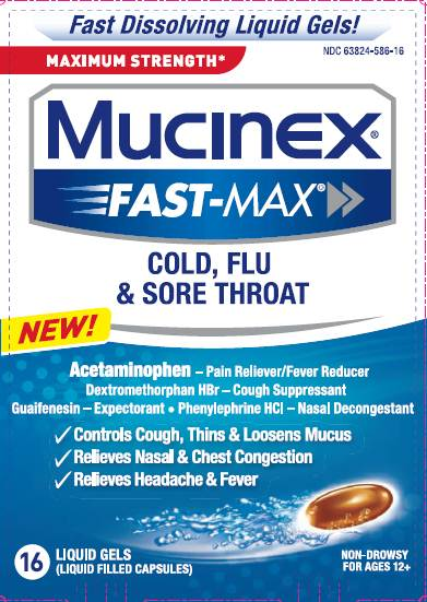 MUCINEX® FAST-MAX™ Cold, Flu and Sore Throat Liquid Gels