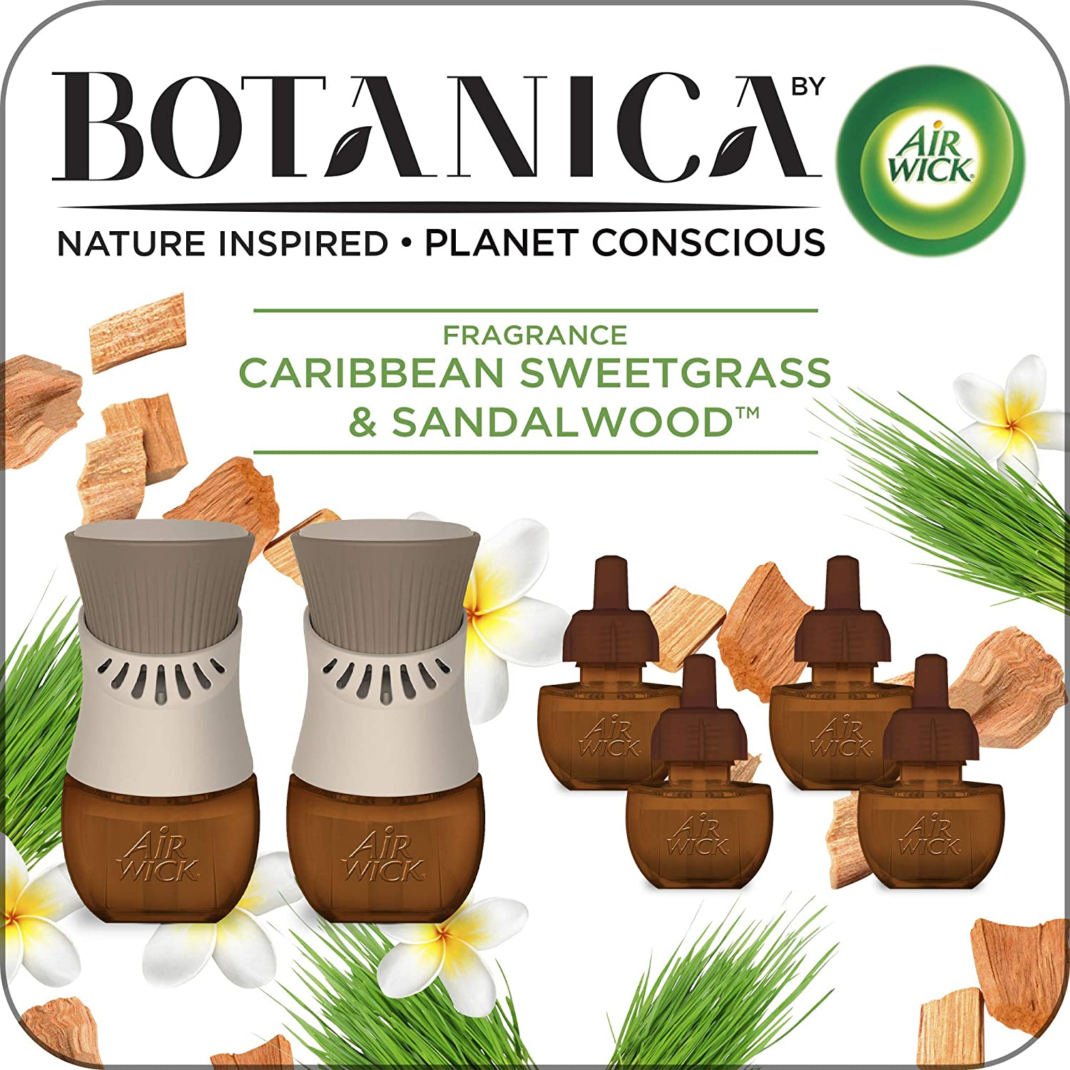 AIR WICK® Botanica Scented Oils - Caribbean Sweetgrass & Sandalwood - Kit