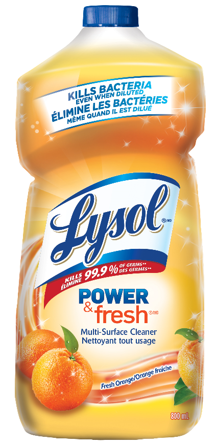 LYSOL Disinfectant Power  Fresh MultiSurface Cleaner  Pourable  Orange Canada Photo