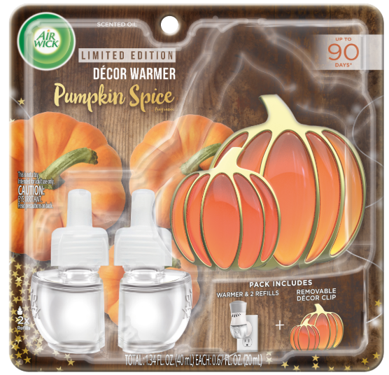 AIR WICK® Scented Oil - Pumpkin Spice - Kit (Decor Clip)