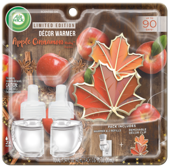 AIR WICK® Scented Oil - Apple Cinnamon Medley - Kit (Decor Clip)