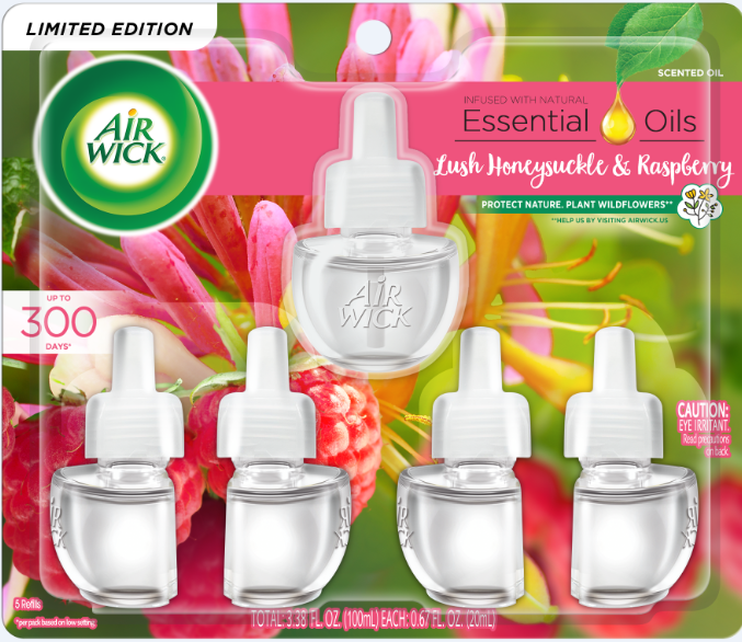 AIR WICK® Scented Oil - Lush Honeysuckle & Raspberry
