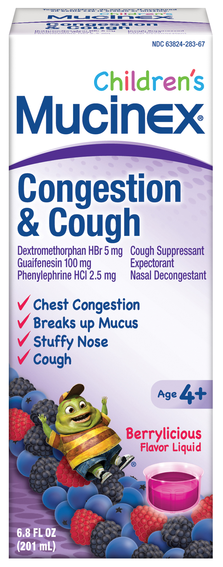 MUCINEX CHILDRENS Congestion  Cough  Berrylicious Photo