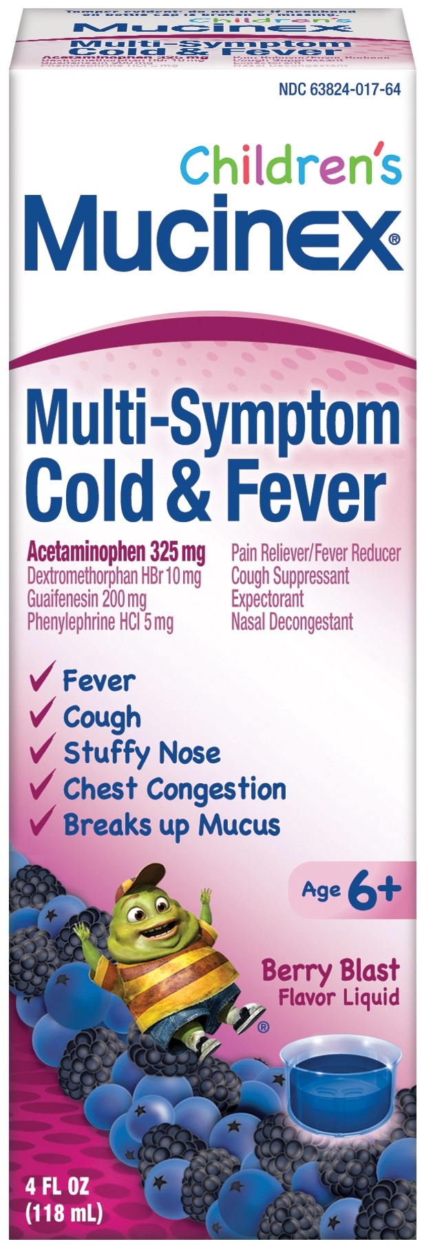 MUCINEX Childrens Cold  Fever  Mixed Berry Photo