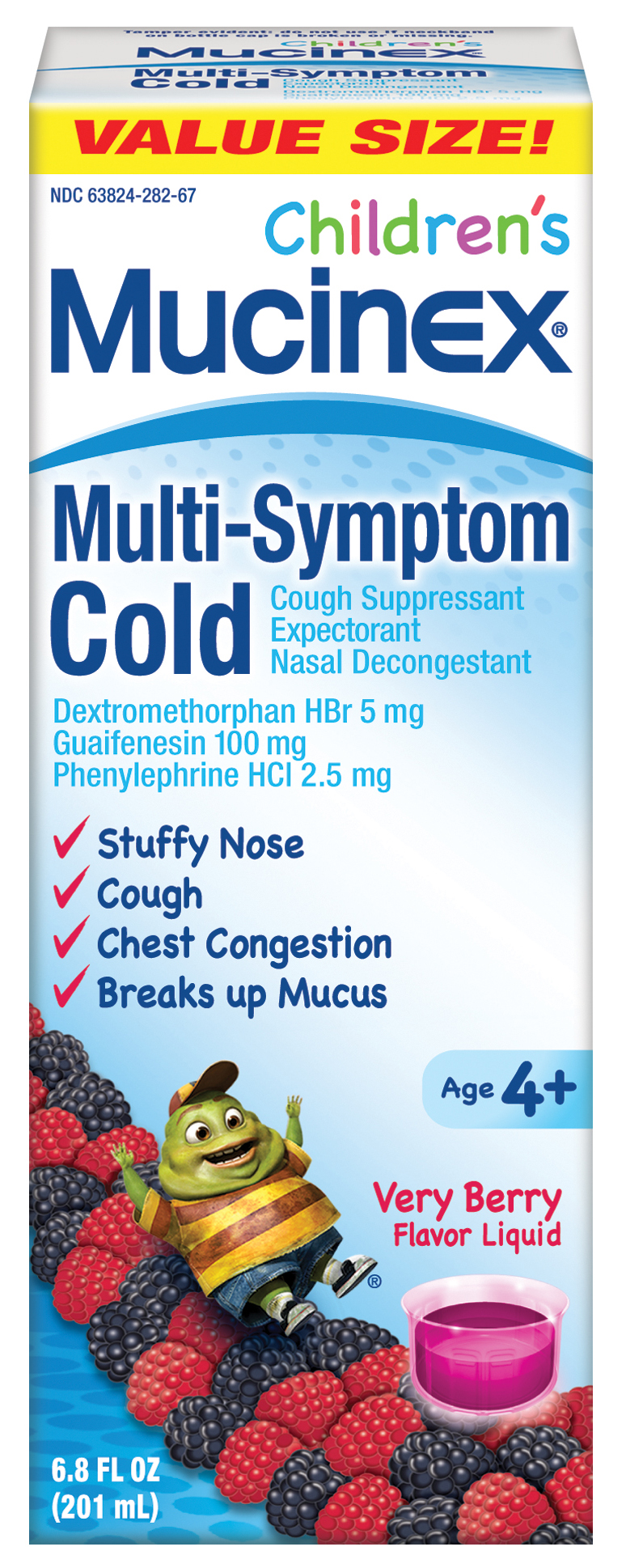 MUCINEX CHILDRENS Day Time Night Time  MultiSymptom Cold  Very Berry Day Time Photo