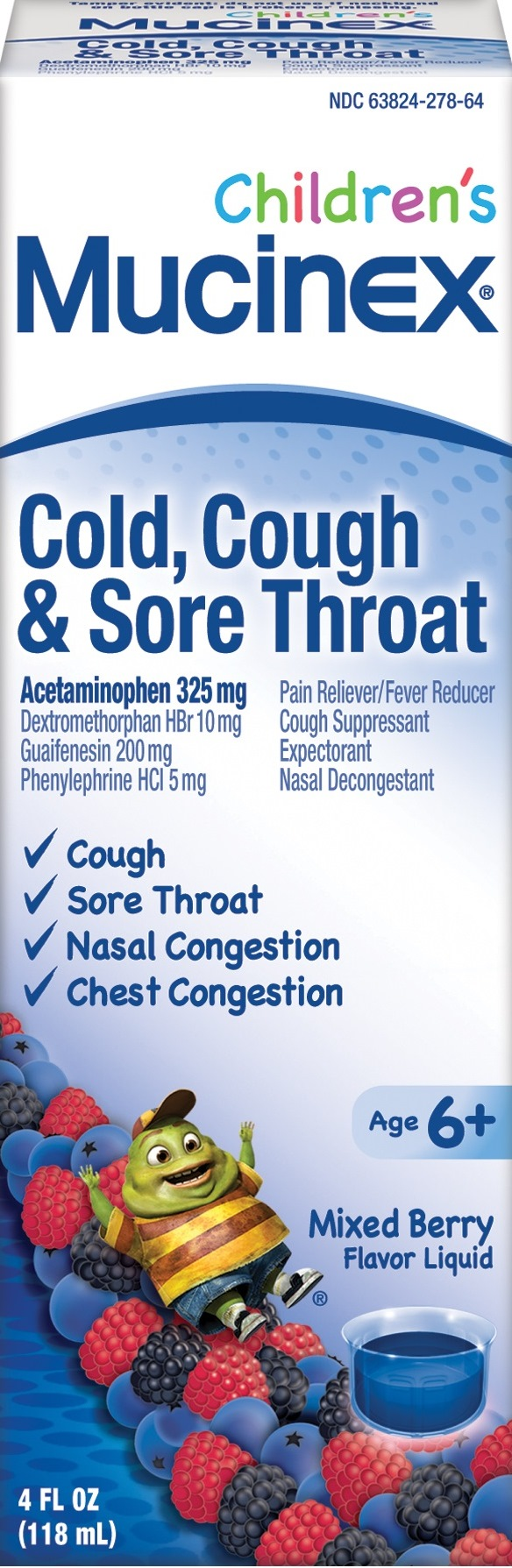 MUCINEX® Children's Cold, Cough & Sore Throat - Mixed Berry