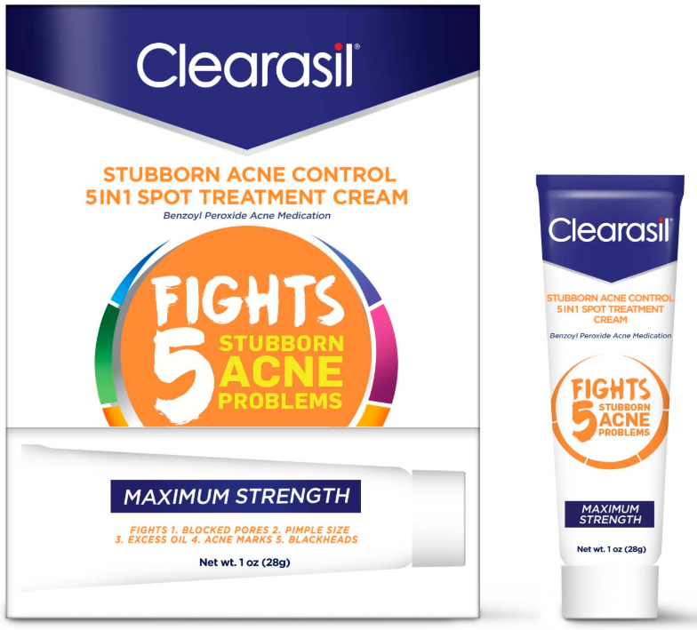 CLEARASIL® Stubborn Acne Control 5 In 1 Pads