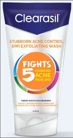 CLEARASIL Stubborn Acne Control 5in1 Exfoliating Wash Photo