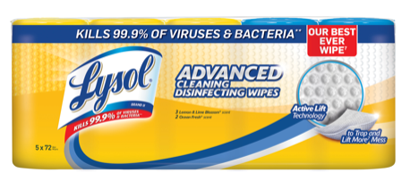 LYSOL® Advanced Cleaning Disinfecting Wipes - Ocean Breeze