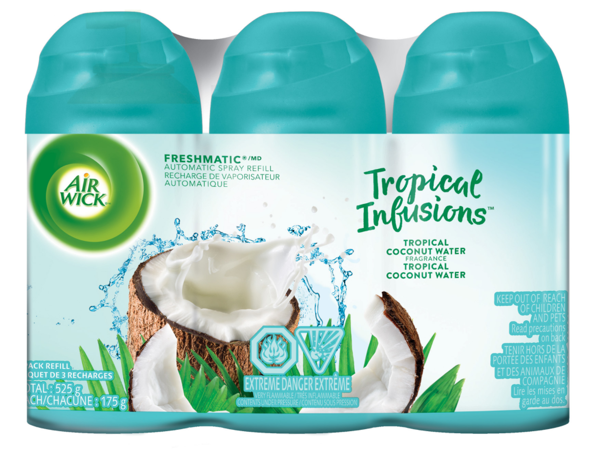 AIR WICK® FRESHMATIC - Tropical Infusions™ Tropical Coconut Water (Canada)